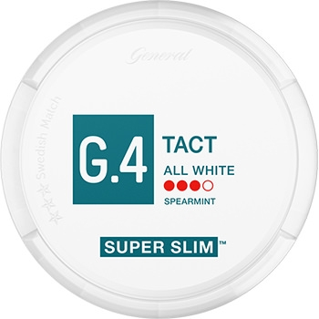 G.4 TACT Super Slim All White Snus