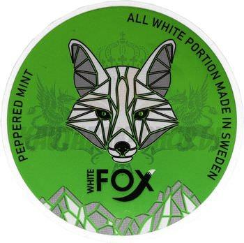 White Fox Peppered Mint Slim All White Snus