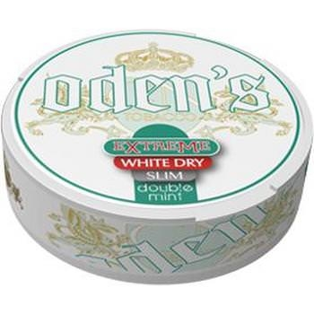 Oden's Double Mint Extrem White Dry Portion Slim Snus